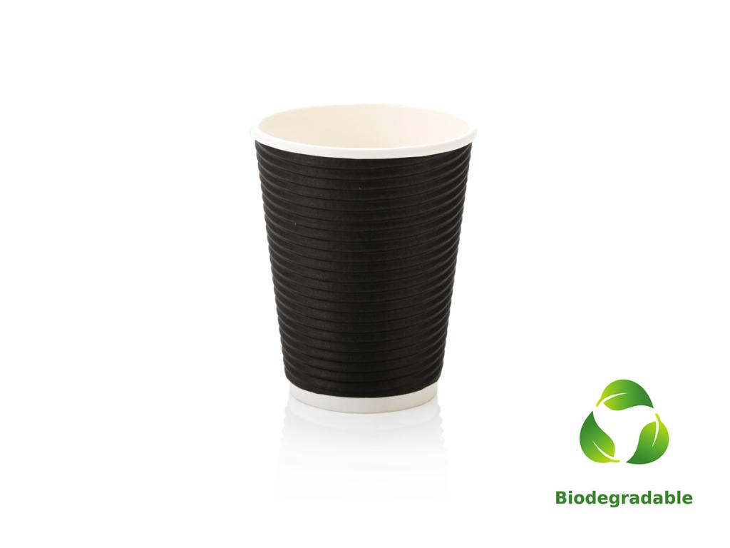 Black Cup Ripple - 350ml - Biodegradable