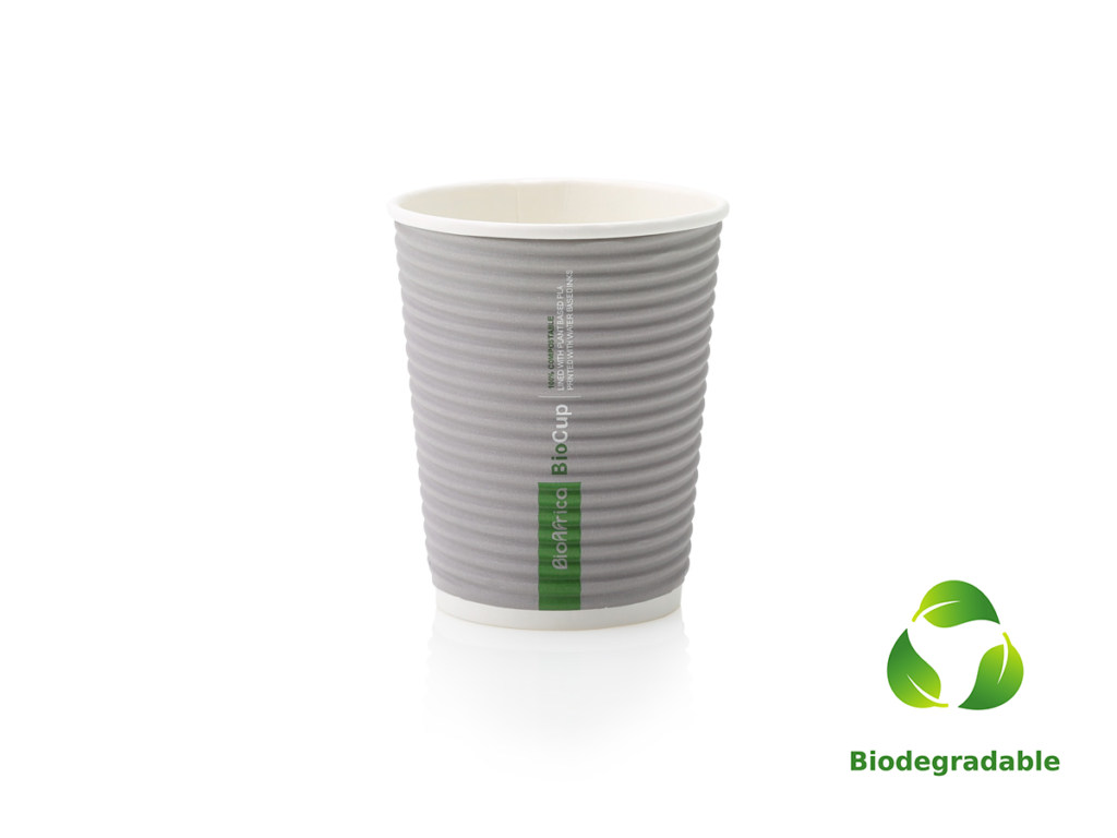 Charcoal Cup Ripple - 250ml - Biodegradable