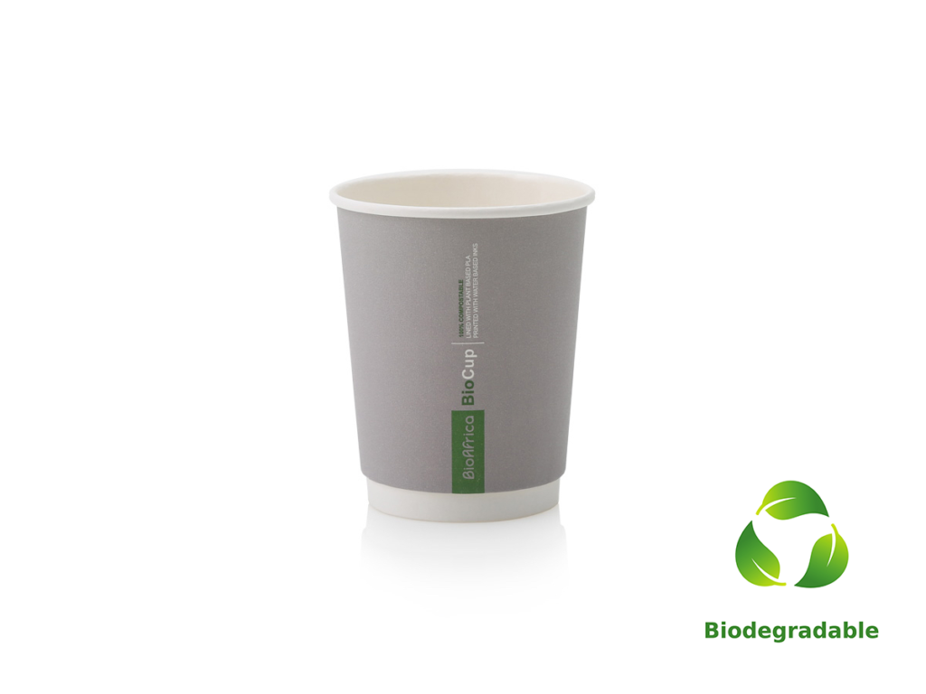 Charcoal Cup Smooth - 250ml - Biodegradable
