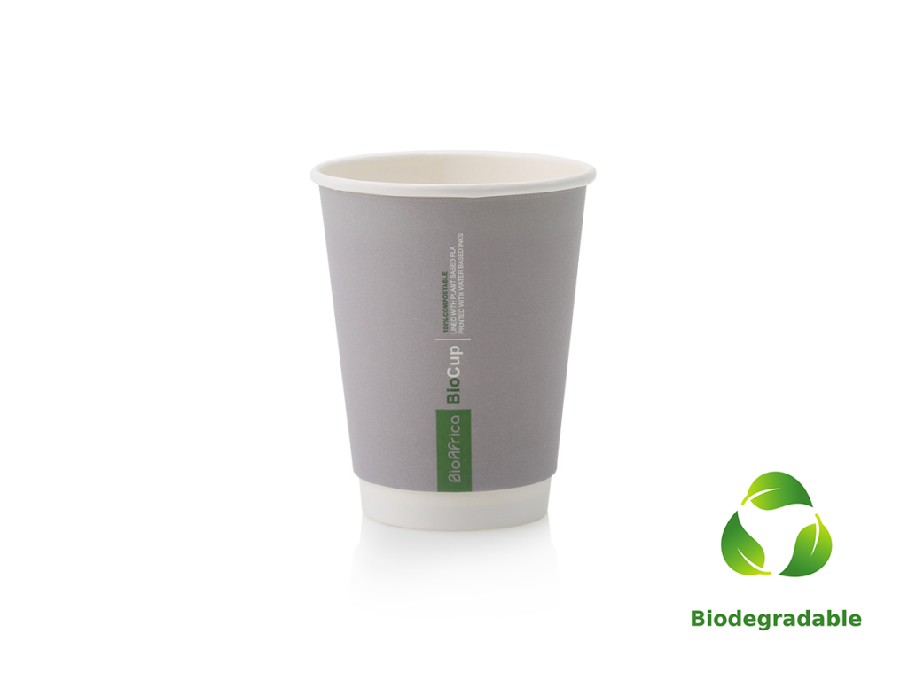 Charcoal Cup Smooth - 350ml - Biodegradable