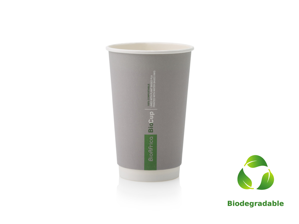 Charcoal Cup Smooth - 500ml - Biodegradable