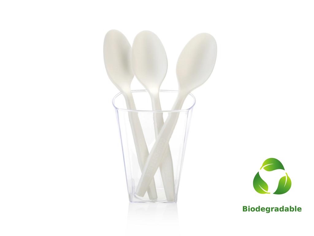 Corn Starch Spoon - 16cm - Biodegradable