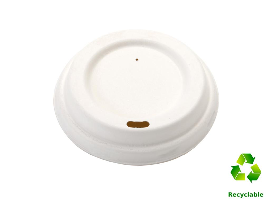 Lid White Bagasse - 90ml - 300ml - 500 ml