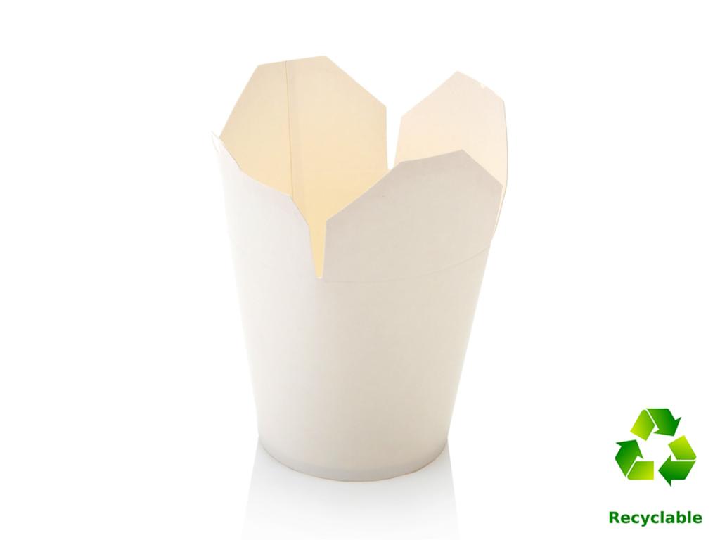 Noodle Box Tubs - White - Round Base - 1000ml