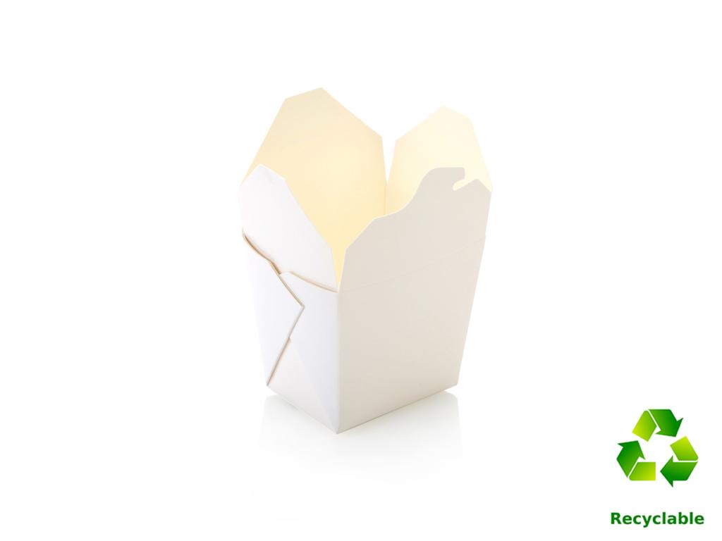 Noodle Box Tubs - White - Square Base - 500ml