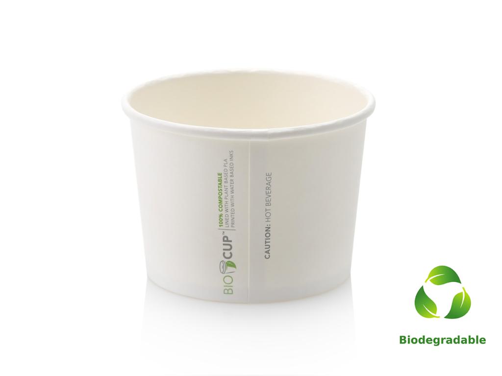 Noodle Box - White - Round Base - 500ml - Biodegradable