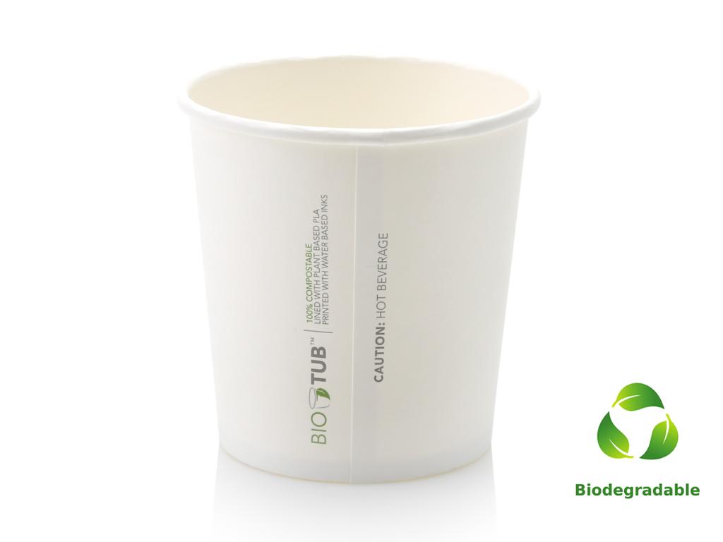 Noodle Box - White - Round Base - 700ml - Biodegradable