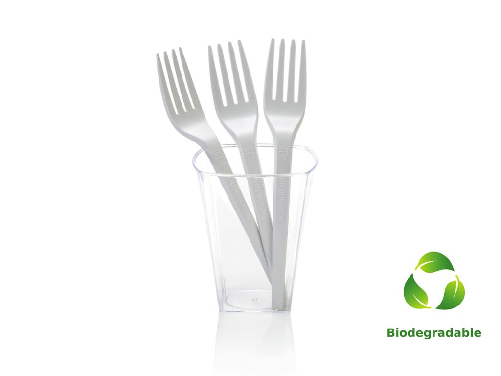 Plant Starch Fork - 16cm - Biodegradable