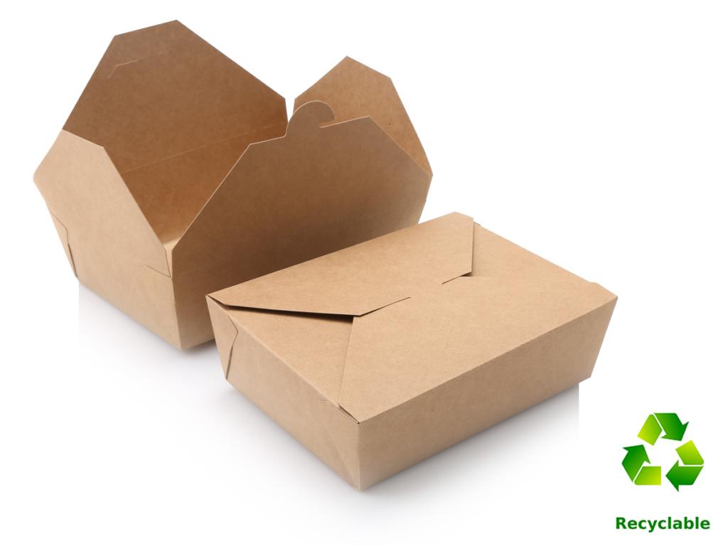 Take Away Lunch Box - 1900ml - Kraft