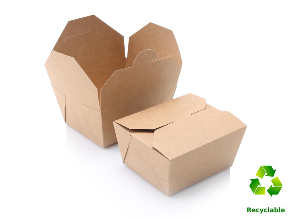Take Away Lunch Box - 800ml - Kraft