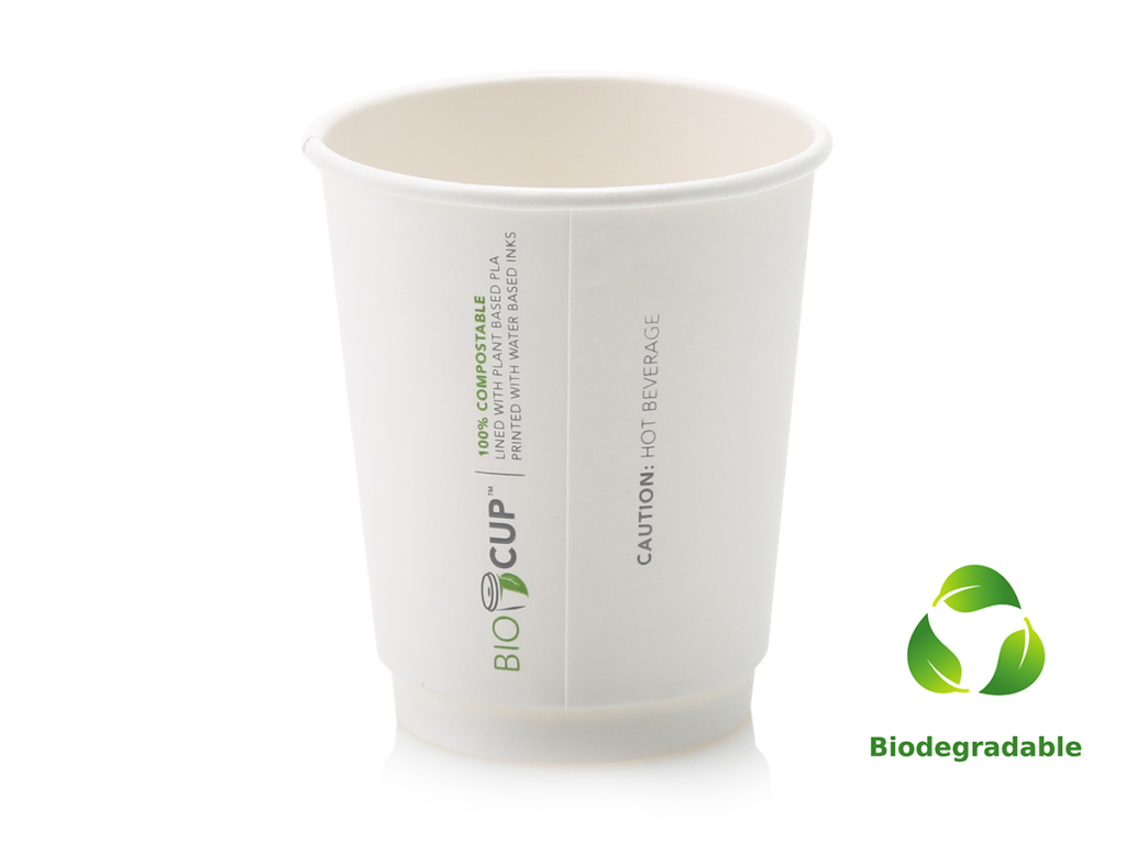 White Cup - 250ml - Biodegradable