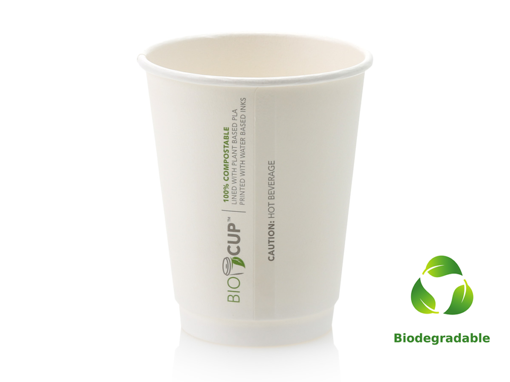 White Cup - 350ml - Biodegradable