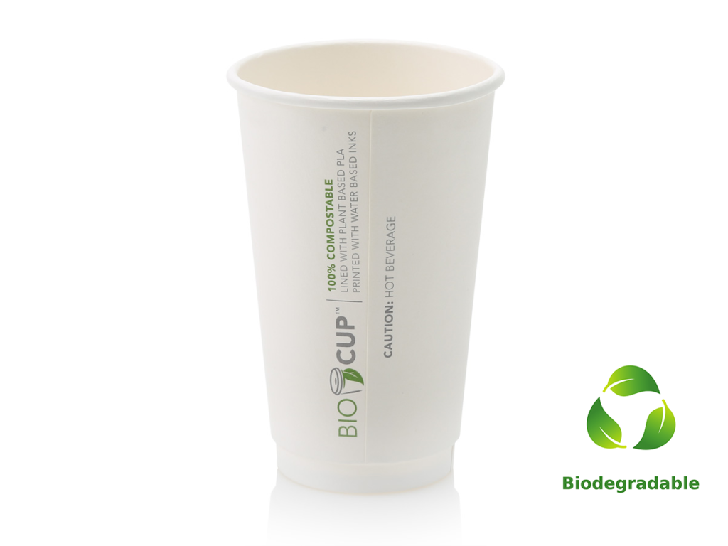 White Cup - 500ml - Biodegradable