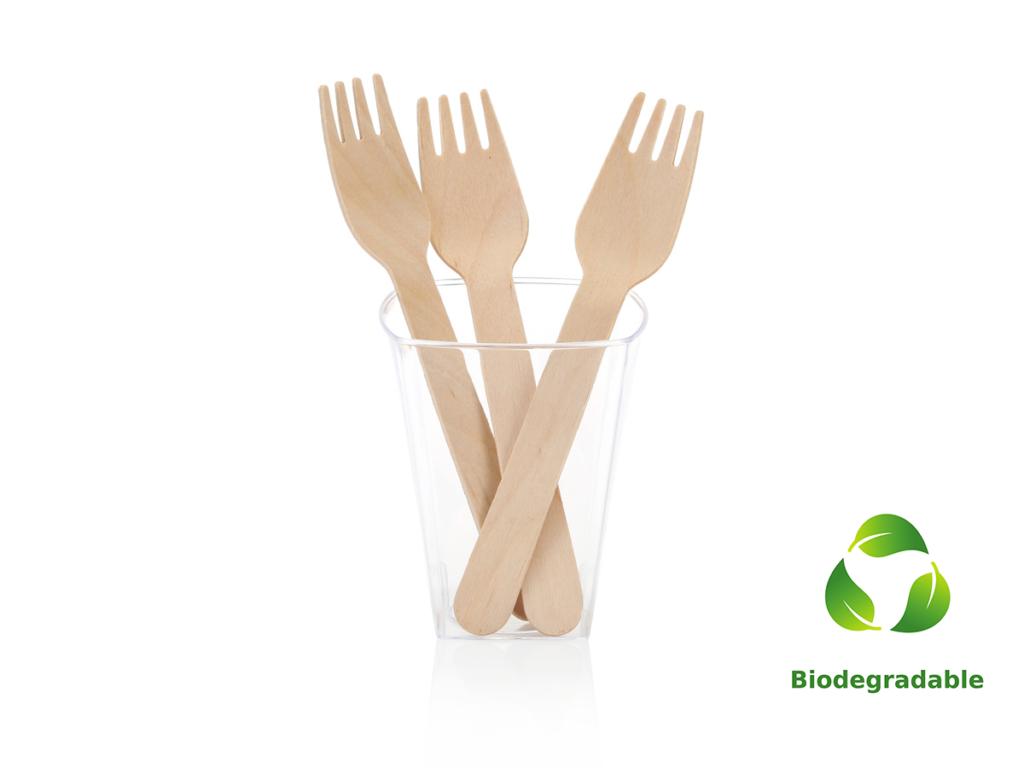 Wooden Fork - 16cm - Biodegradable